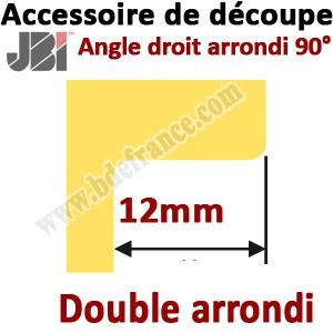 Accessoire de découpe 90° avec angle DOUBLE  arrondi 12MM