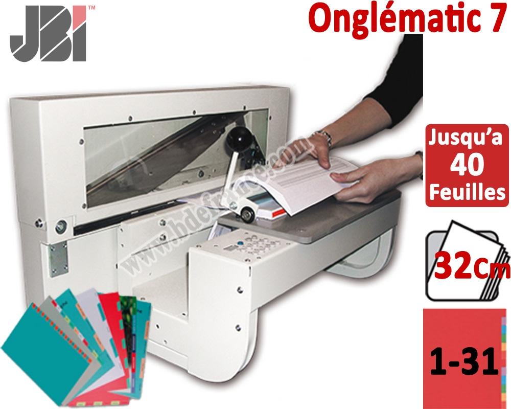 Onglematic O7 #Découpe automatique des intercalaires# 2 à 31 onglets avec des feuilles de 320 mm#la butée automatiquement