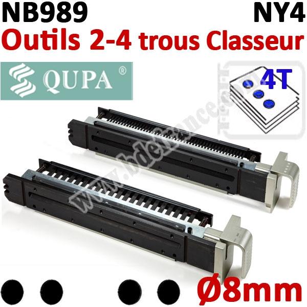 Bloc-outil 2-4 trous CLASSEUR débrayables Ø 8mm pour NB989#2-4 trous CLASSEUR débrayables Ø 8mm # REF NY4