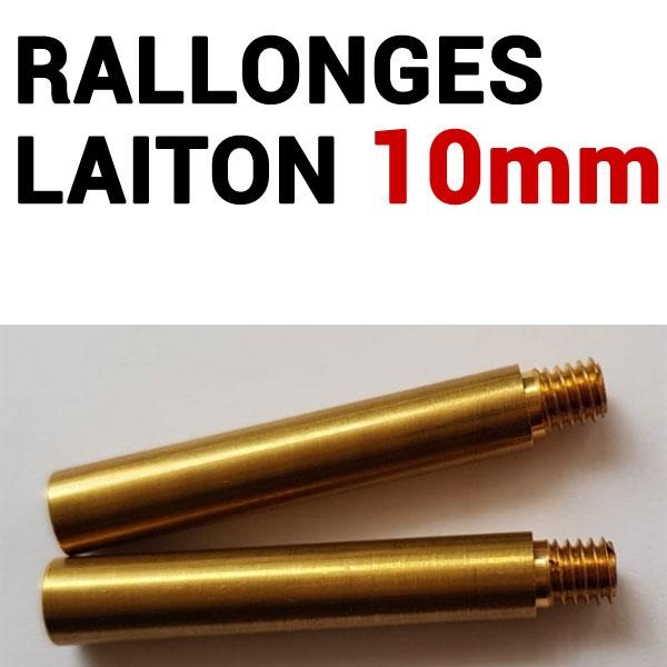 Rallonges Laiton 10 mm #  Boite de 50 pcs