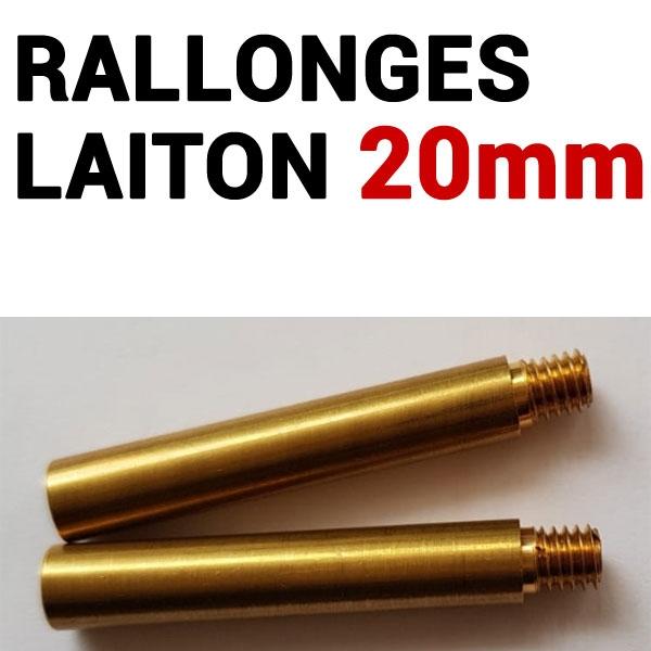 Rallonges Laiton 20 mm #  Boite de 50 pcs