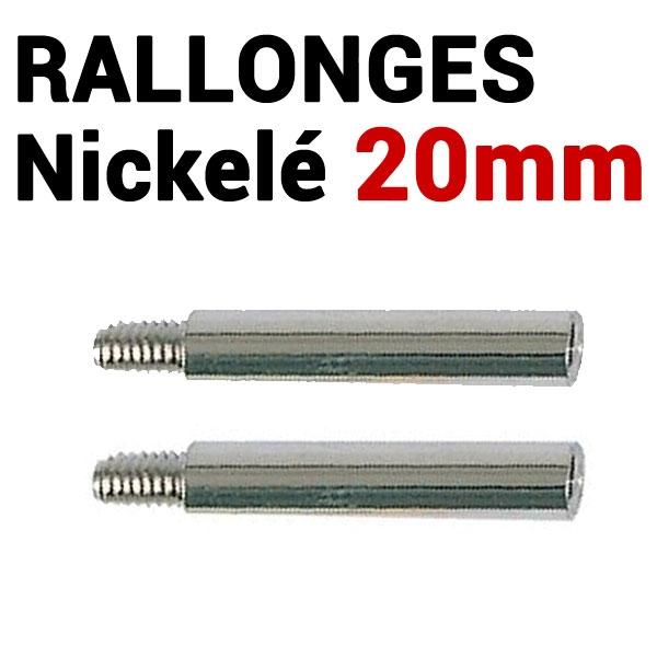 Rallonges NICKELE 20 mm par 100