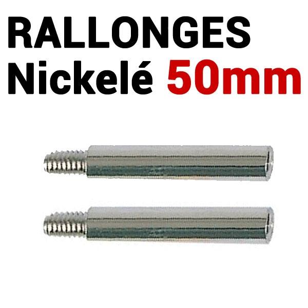 Rallonges NICKELE 50 mm par 100