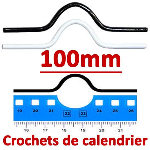 Crochets de calendrier 100mm #Boite de 1000 crochets