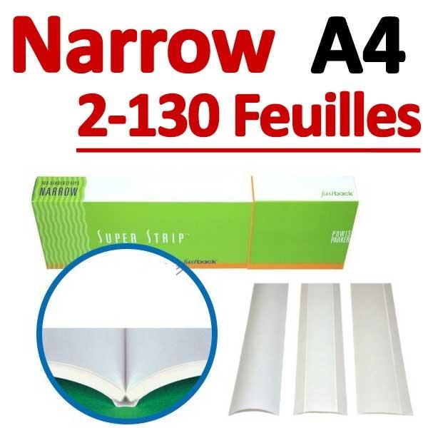Narrow 100 Pcs # 2-125 feuilles A4