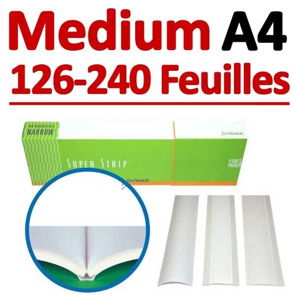 Medium 100 Pcs # 126-240 feuilles A4