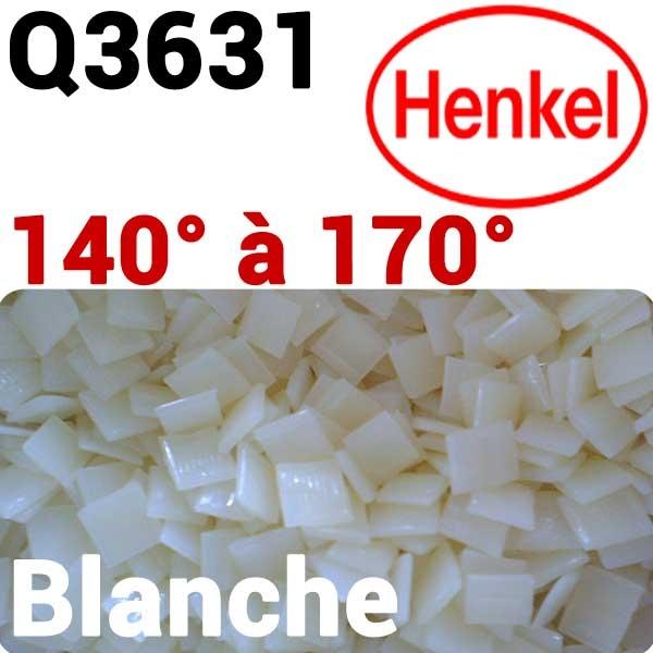 Colles Thermofusibles EVA HENKEL Q3631 # Température 140° à 170° Couleur Blanche #Pour papiers impression laser NOUVEAU