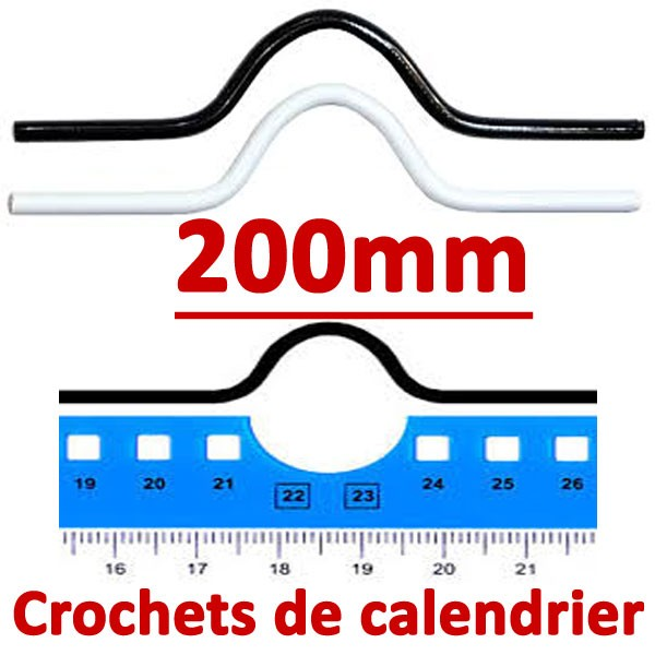 Crochets de calendrier 200mm #Boite de 1000 crochets