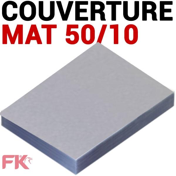 Couverture 50/100 mat polypro transp. #Paquet de 100 feuilles