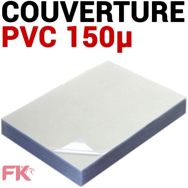 @Couverture PVC 15/100 transparent #Le paquet de 100 feuilles