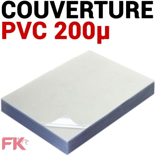 Couverture PVC 20/100 transparent #Le paquet de 100 feuilles
