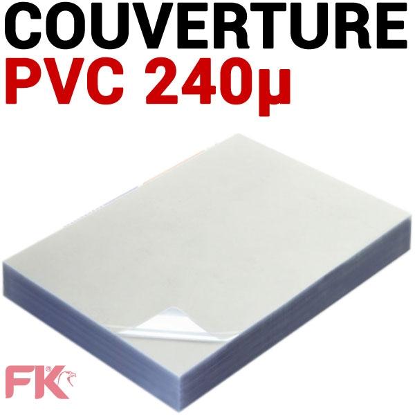 Couverture PVC 24/100 transparent #Le paquet de 100 feuilles