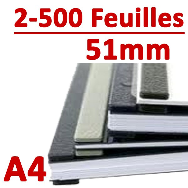 51mm A4 : 250 à 500 feuilles, 10 picots #Boite de 100pcs