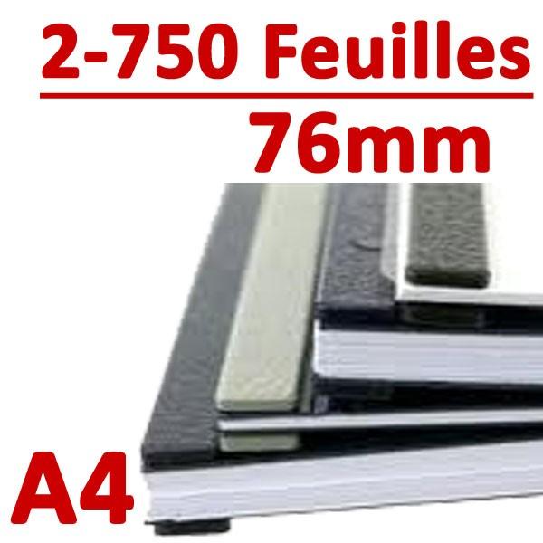 76mm A4 : 500 à 750 feuilles, 10 picots #Boite de 100pcs