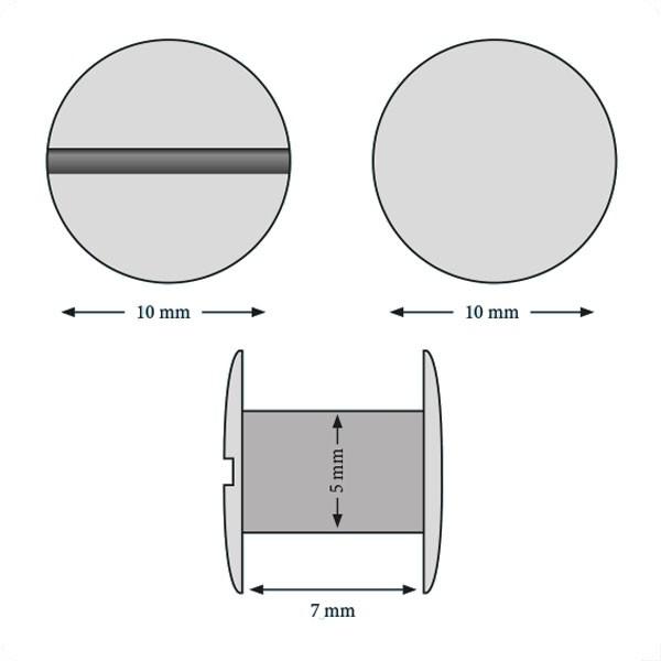 Vis 7 mm#Boite de 100 pcs