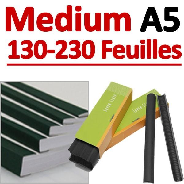 Medium 400 Pcs # 130-230 feuilles A5
