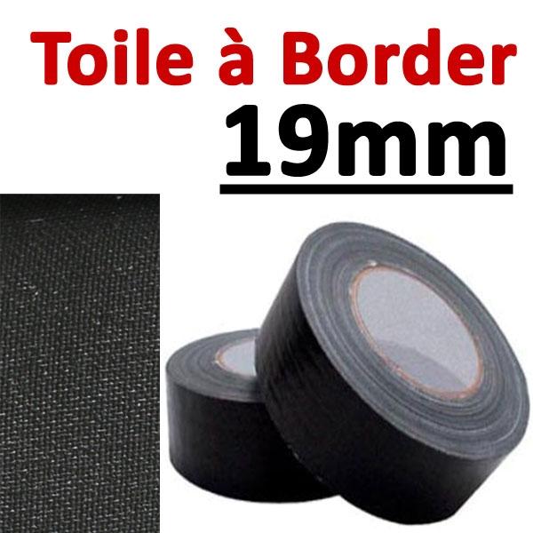 @Toile à border 19mm Noire#Rouleau de 25 mètres#Vendu Par 1 rouleau