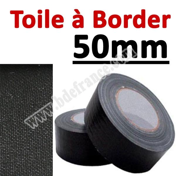 Toile à border 50mm Noire#Rouleau de 25 mètres#Vendu Par 1 rouleau