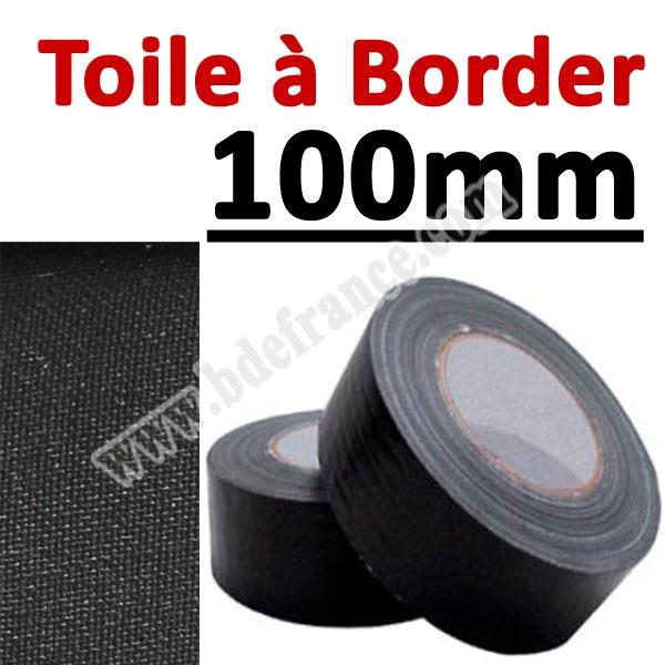 Toile à border 100mm Noire#Rouleau de 25 mètres#Vendu Par 1 rouleau