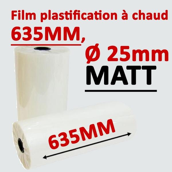 @Rouleau 635mm, Ø 2.5cm mat Numérique#Prix pour 2 rouleaux