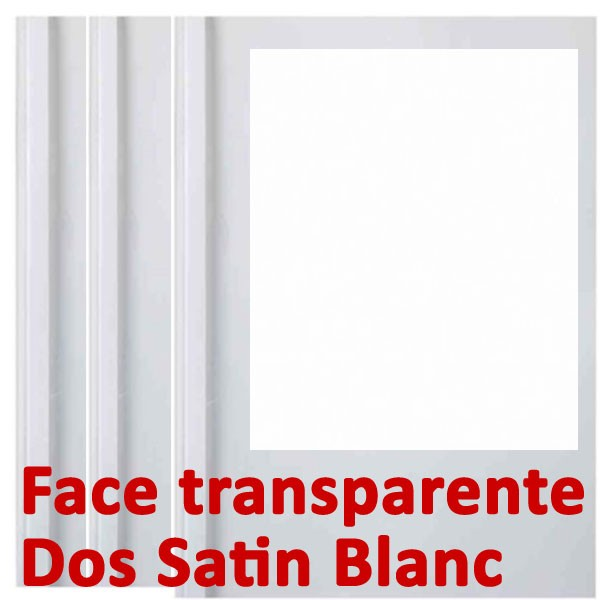 Face transparente#Dos Satin Blanc