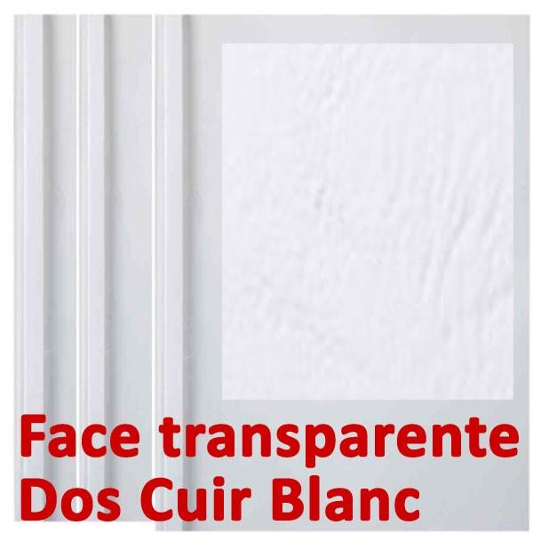 Face transparente#Dos Cuir Blanc