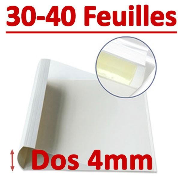 Dos Largeur 4 Mm De 30 A 40 Feuilles#Par Boite De 100