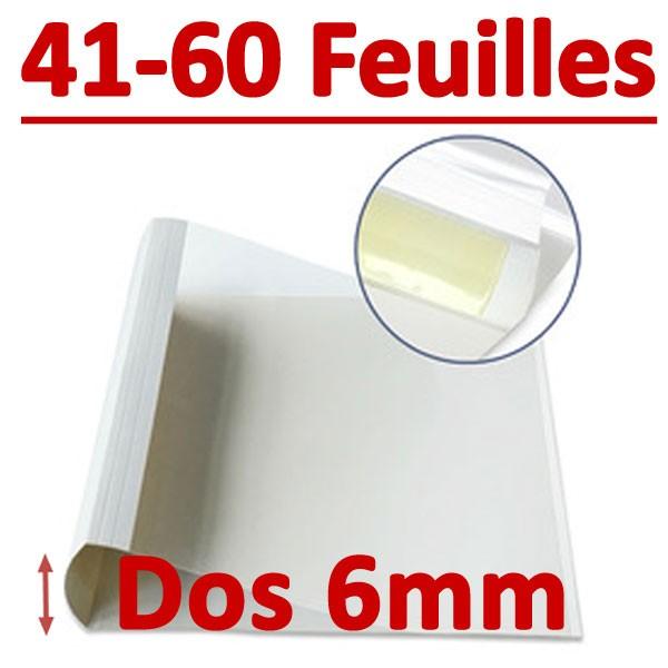 Dos Largeur 6 Mm De 41 A 60 Feuilles#Par Boite De 100