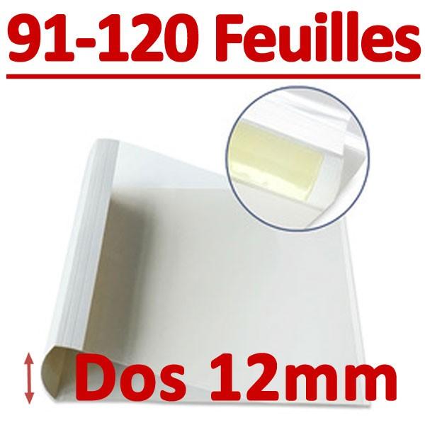 Dos Largeur 12 Mm De 91 A 120 Feuilles#Par Boite De 100