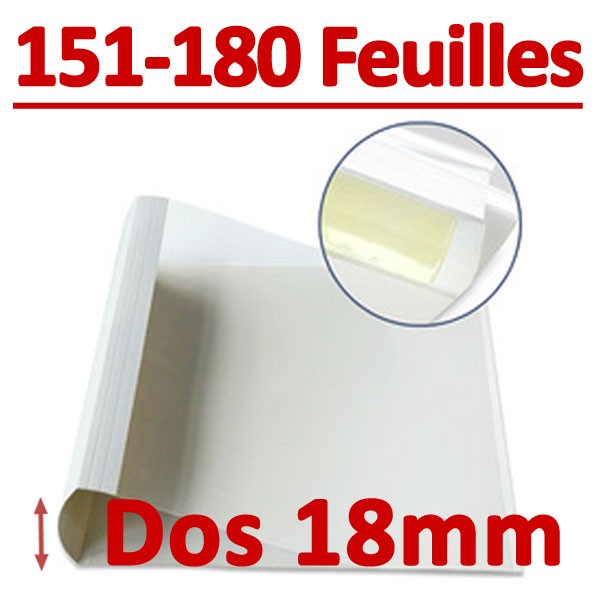 Dos Largeur 18 Mm De 151 A 180 Feuilles#Par Boite De 100