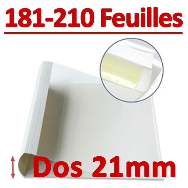 Dos Largeur 21 Mm De 181 A 210 Feuilles#Par Boite De 100