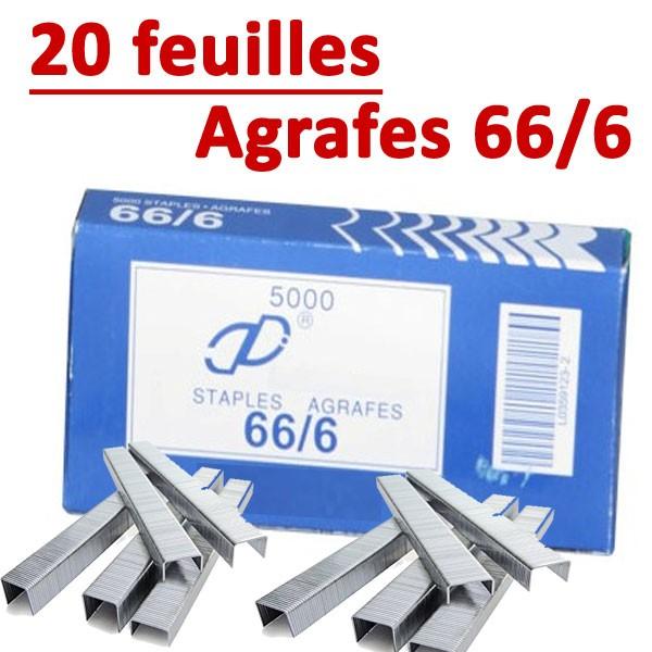 Agrafe 66/6 (RAPID 100,105E,106E)# Compatible Capacité 20 feuilles