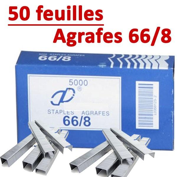 Agrafe  66/8 (RAPID 100,105E,106E)#Compatible Capacité 50 feuilles
