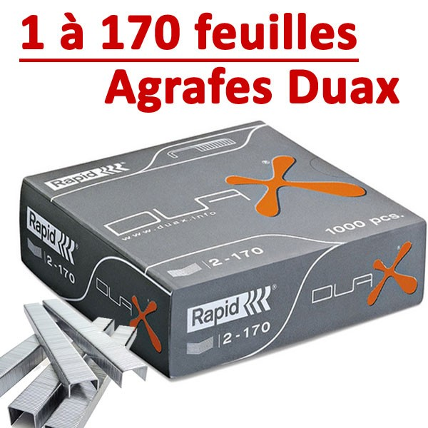 @Agrafes Duax Rapid #Original Capacité 170 feuilles