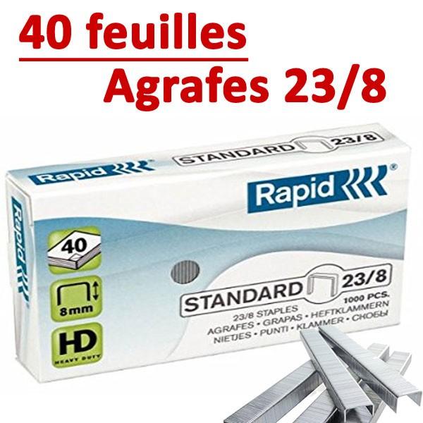 Agrafes 23/8 (HD70,HD110,HD170,HD210)#Capacité 40 feuilles
