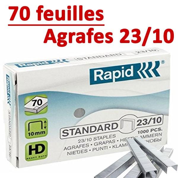 Agrafes 23/10 (HD70,HD110,HD170,HD210)#Capacité 70 feuilles