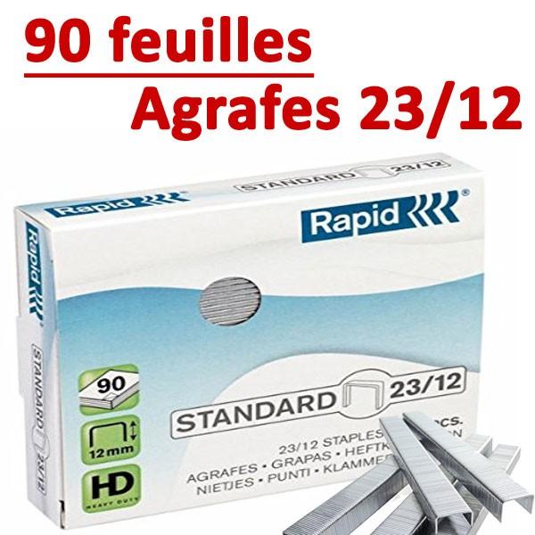 Agrafes 23/12 (HD70,HD110,HD170,HD210)#Capacité 90 feuilles