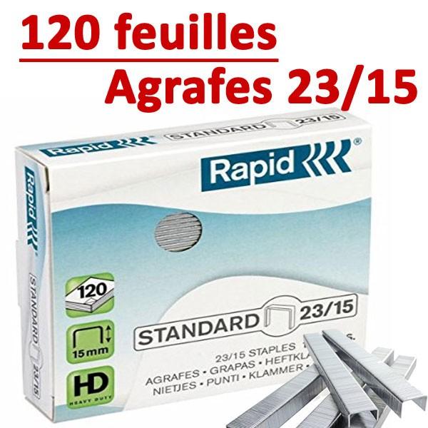 Agrafes 23/15 (HD70,HD110,HD170,HD210)#Capacité 120 feuilles