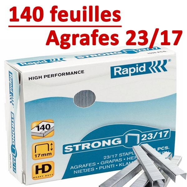 Agrafes 23/17 (HD70,HD110,HD170,HD210)#Capacité 140 feuilles