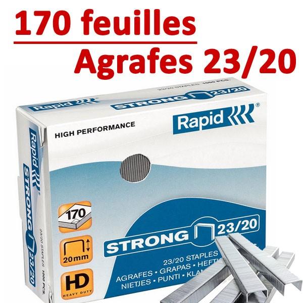 Agrafes 23/20 (HD70,HD110,HD170,HD210)#Capacité 170 feuilles