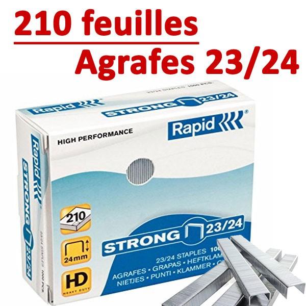 Agrafes 23/24 (HD70,HD110,HD170,HD210)#Capacité 210 feuilles