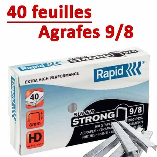 @Agrafes 9/8 (HD70,HD110,HD170,HD210)#Capacité 40 feuilles