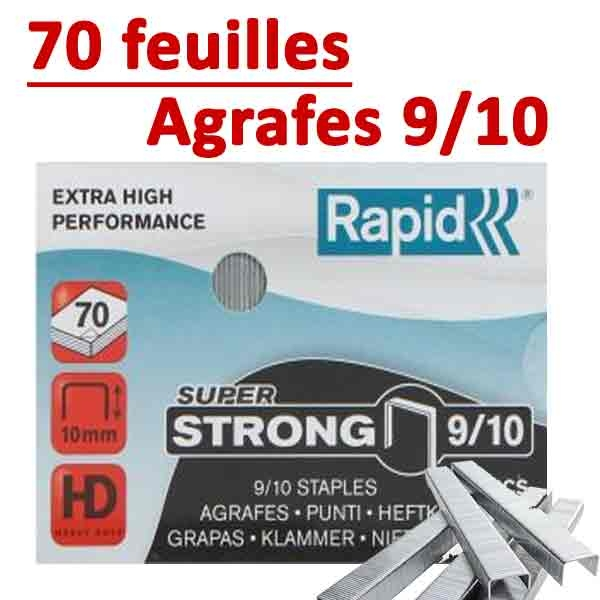 Agrafes 9/10 (HD70,HD110,HD170,HD210)#Capacité 70 feuilles