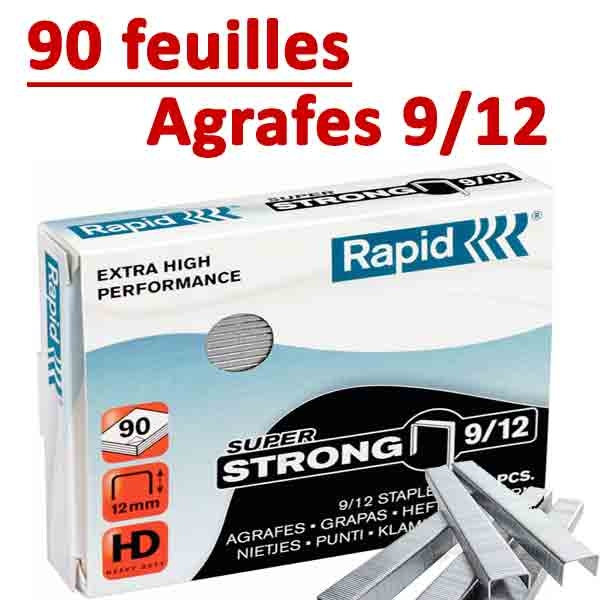Agrafes 9/12 (HD70,HD110,HD170,HD210)#Capacité 90 feuilles