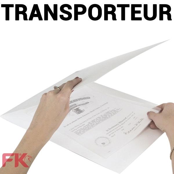 @Transporteur pour plastifieuse.#Paquet de 5 feuilles