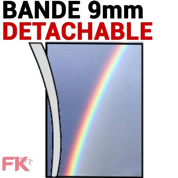 Transparent + Bande détachable 9mm Couleur#Le paquet de 100 feuilles