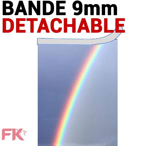 Transparent + Bande détachable 9mm petit coté Couleur#Le paquet de 100 feuilles