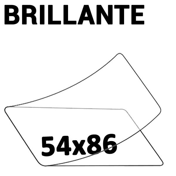 54 x 86 Crédit Carte 2 Faces Brillantes #Boite de 100 pièces
