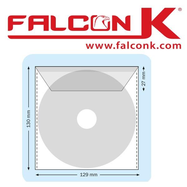 Pochette carrée CD + Rabat 129 X 130 mm NON Adhésive#Ref : PCD  Boite de 100