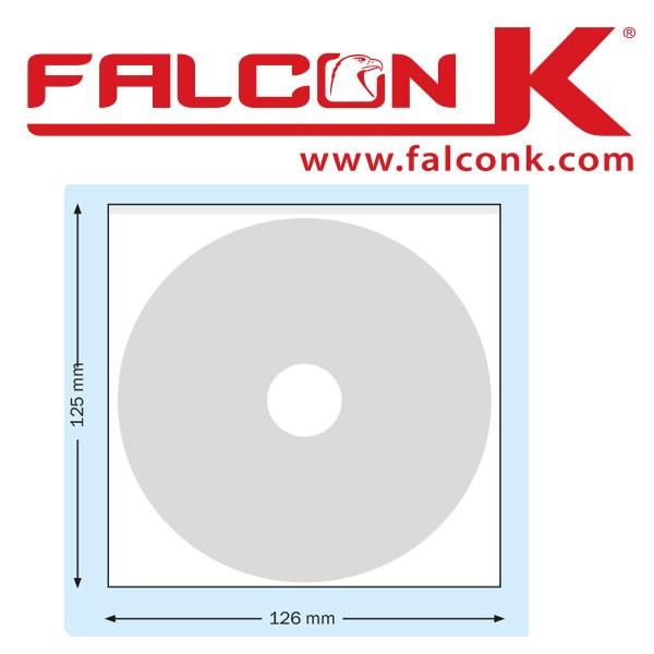 Pochette carrée CD  126 X 125 mm Adhésive#Ref : PPACDS Boite de 100 Pochettes